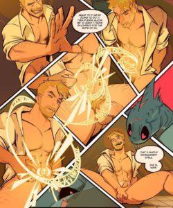 Spellbound - A John Constantine x King Shark Fan Comic 012 and Gay furries comics