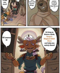 Yooyu's Magical Adult Store 1 gay furry comic
