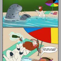 Zeus' Beach Fling! gay furry comic