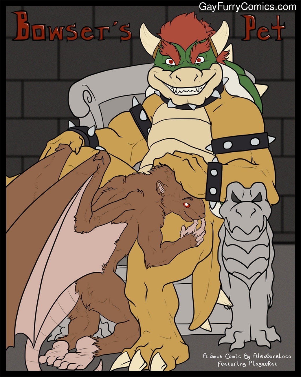 Animal Condum Porn bowser's pet 1 gay furries - gay furry comics