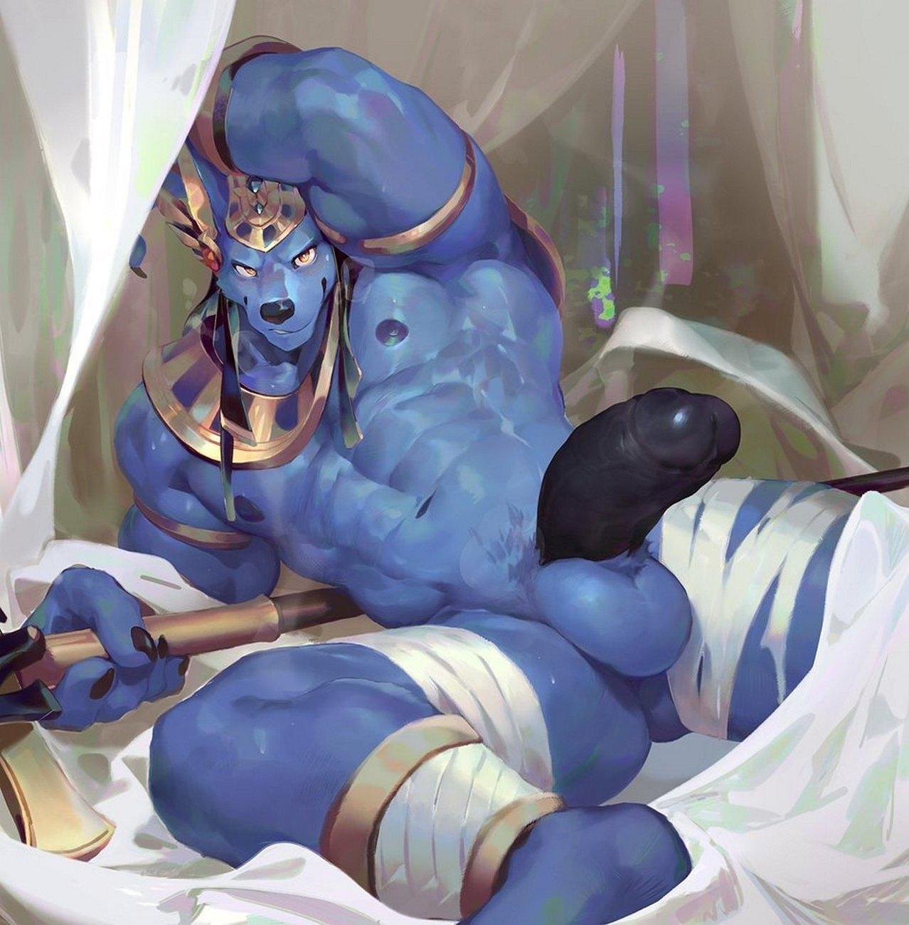 Anubis Porno buff-anubis-001 - gay furry comics