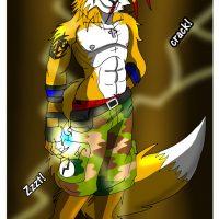 Lightning Fursona Transformation gay furry comic