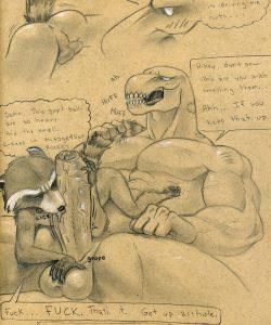 Rocket Racoon X Beta Ray Bill gay furry comic