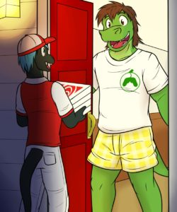 Swirly's Pizza Delivery gay furry comic
