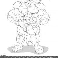 WolfieCanem's Muscle Growth Comic 1 gay furry comic