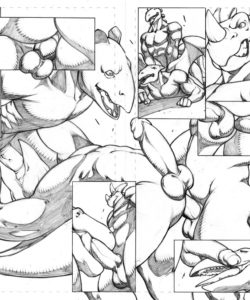 Extreme Dinosaurs 011 and Gay furries comics