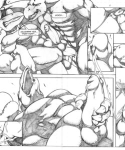 Extreme Dinosaurs 012 and Gay furries comics