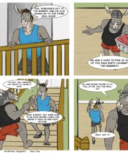 Laundry Day 1 gay furry comic