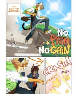 No Pain No Gain gay furry comic