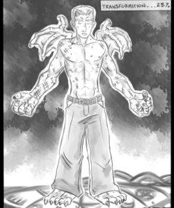 Red Dragon Transformation gay furry comic