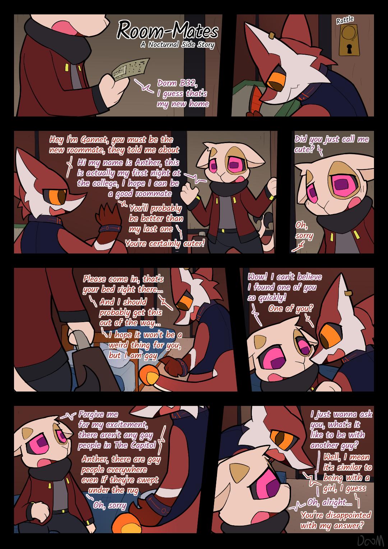 Room-Mates gay furry comic
