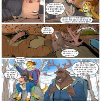 Snow Bound gay furry comic